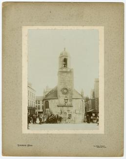 Old St Mathew's church, Douglas, showing the bell…