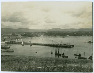 Douglas Bay from Douglas Head showing the piers