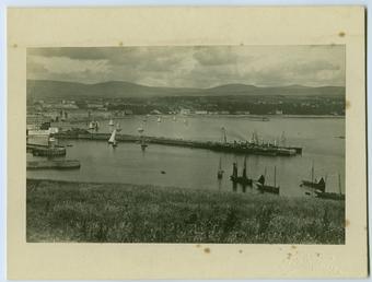 Douglas Bay from Douglas Head, showing the piers