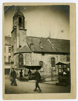 Old St Matthew's church and the Market Place,…