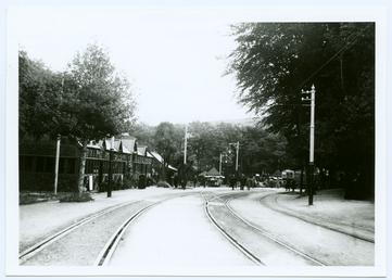 Cunningham's campers visiting Laxey station