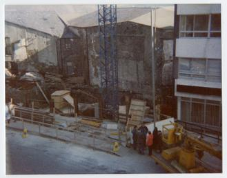 the demolition of the Prospect Hill shops