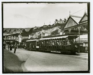 Queen's Promenade and Manx Electric Railway tram, Douglas