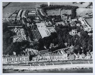 Aerial view of Cunningham's Camp and the surrounding…