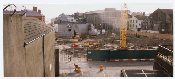 Construction site of the new Marks and Spencer…