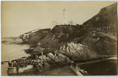 Lighthouse and bathing place, Douglas Head