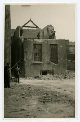 Beginning the demolition of the old Grammar School,…