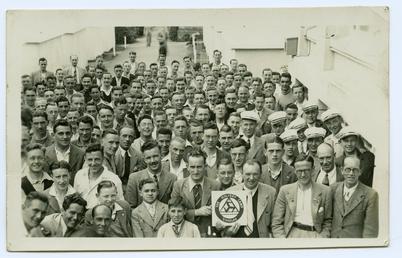Young men at Cunningham's Camp, Douglas