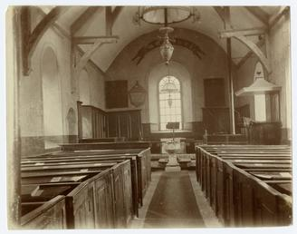 Interior of old St Matthew's church, Douglas