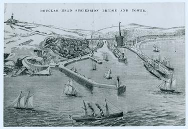 Plan of unbuilt bridge showing Douglas Head suspension…