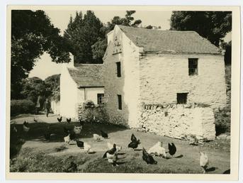 Lewneys Farm, on the river bank opposite Tynwald…