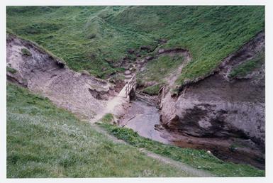 Glen Trunk topography, view of FP bridge