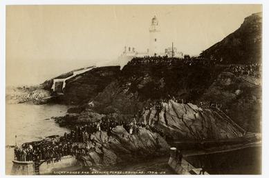 Crowds at Douglas Head lighthouse and the outdoor…