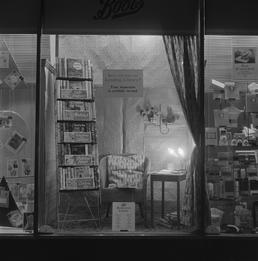 Boots shop window