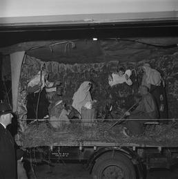 St Mary's Players Nativity Tableau on lorry