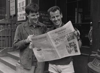 Robin Hall and Jimmy MacGreggor, reading Holiday News
