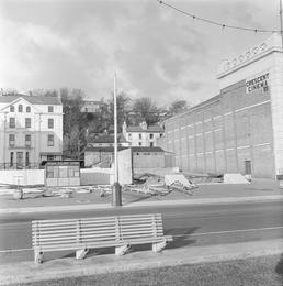 Site after removal of Crescent Pavilion, Douglas