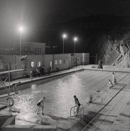 Peel Swimming Pool by Floodlight