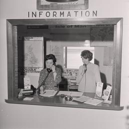 Information desk at Ronaldsway Airport