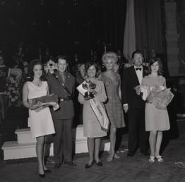 Carnival Queen with Miss World at the Palace