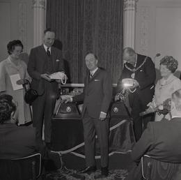 Opening the Telephone Auto Exchange, Castle Mona