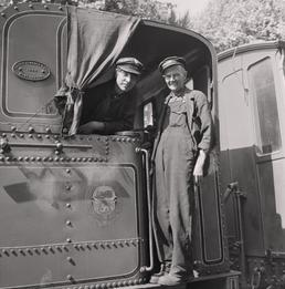 Steam train and engine drivers