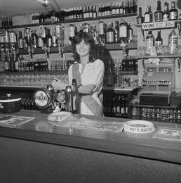 Carole Kneale, Miss Isle of Man, behind the…