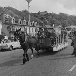 Horse tram parade, Douglas Promenade