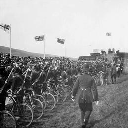 Guard of Honour, Manx Volunteers, Cyclist Section, Tynwald…