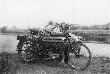 Motorcycle and Sidecar, Isle of Man