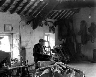 Sailmaker at Work, Isle of Man