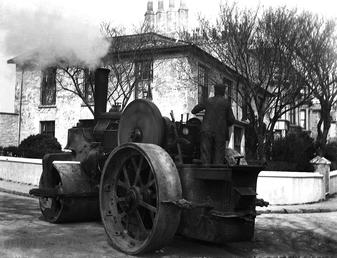 View of steam roller in Bowring Road at…