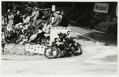Jimmy Simpson aboard Norton (?) number 6, 1934…
