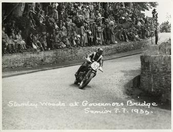Stanley Woods aboard machine number 30, 1935 Senior…