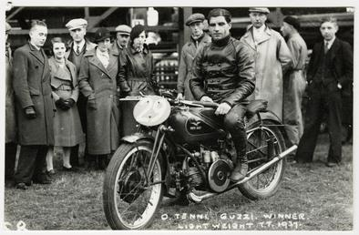 Omobono Tenni aboard Moto Guzzi (number 29), 1937…