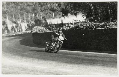 Ewald Kluge aboard a DKW motorcycle, 1939 TT…