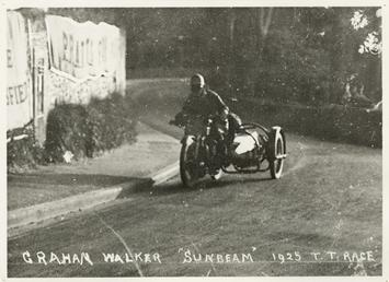 Graham Walker aboard a Sunbeam sidecar outfit, 1925…