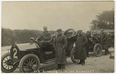 Algernon Lee Guinness in a Darracq, 1907 Tourist…