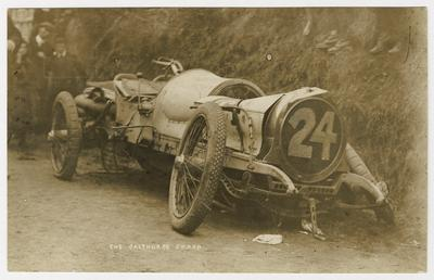 Calthorpe smash at the 1908 Tourist Trophy motorcar…