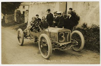 T. Rimmer in a Vulcan, 1908 Tourist Trophy…