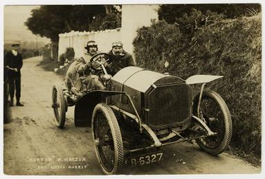 W. Watson, winner of 1908 Tourist Trophy motorcar…