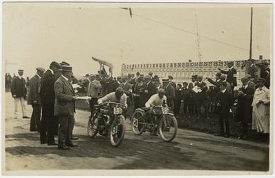 Start of a race at St John's, 1910…