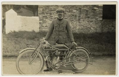 Harold Collier, TT (Tourist Trophy) rider poses with…
