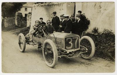Tom Rimmer in a Vulcan, 1908 Tourist Trophy…