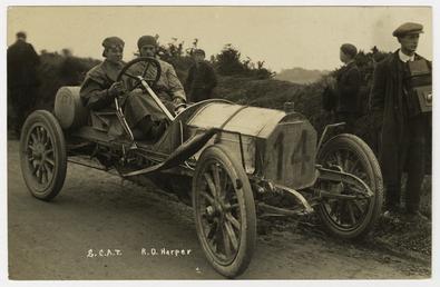 R.O.Harper in a  S.C.A.T., 1908 Tourist Trophy motorcar…