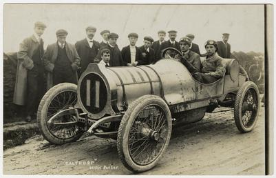 Leslie Porter in a Calthorpe, 1908 Tourist Trophy…