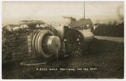 1908 Tourist Trophy motorcar crash
