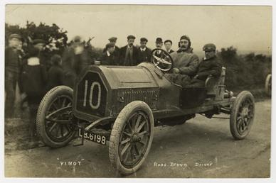 Ross Brown in a Vinot, 1908 Tourist Trophy…