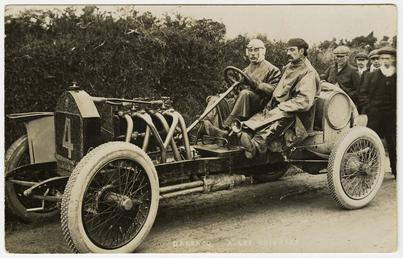 Algernon Lee Guinness in a Darracq, 1908 Tourist…