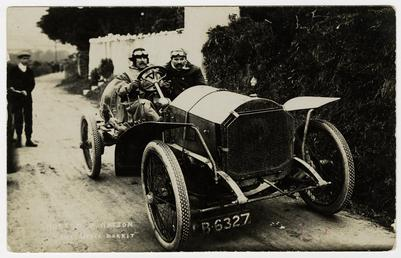 W. Watson in a Napier Hutton,1908 Tourist Trophy…